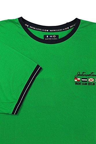 Kitaro T-Shirt Herren Kurzarm Maritime Classics Grün