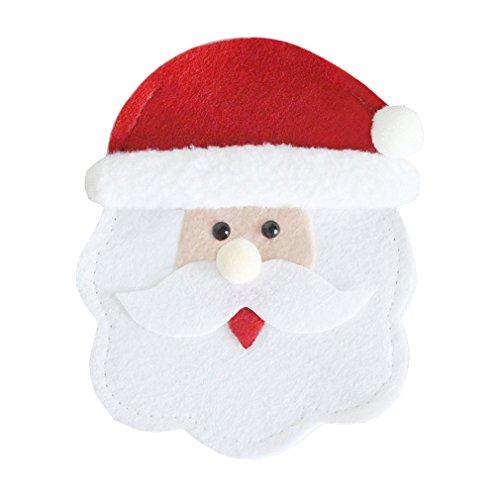 Weihnachten Bestecke Cartoon rundes Gesicht, das Gesicht rund um alte Modelle Weihnachtsdekoration, Weihnachten Festliche Atmosphäre