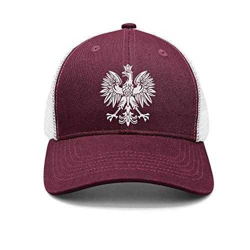 Sdltkhy Polska Eagle Poland Pride Washed Retro Adjustable Cowboy Deckel Trucker Hats for Women and Men Multicolor97 (Utd Hat Man)