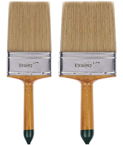 Mercury Brush? Double Thickness Triple Boiled 100% Pure Nylon/Polyester Blend Round Bristles Paint Brush for All Painting Applications specially for Wall paint
