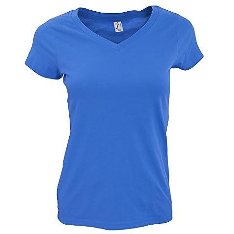 SOLS Moon - T-shirt à manches courtes et col en