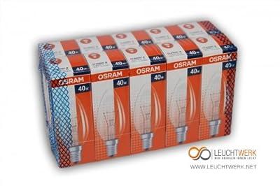 10 Stück - Osram Kerzen-Glühbirnen 40W von Osram - Lampenhans.de