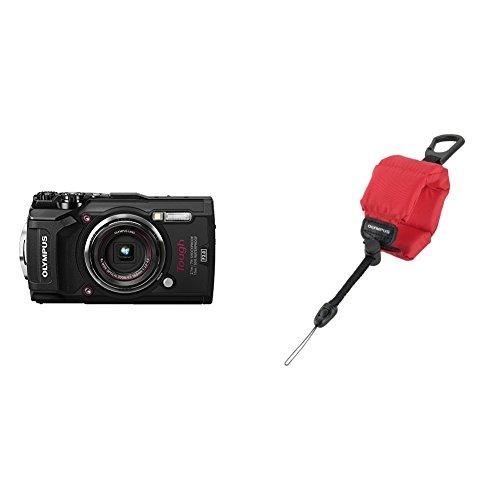 Olympus Tough TG-5 Digitalkamera (12 Megapixel, 25-100mm 1: 2,0 Objektiv, Feld-Sensorsystem, GPS, Manometer) + CHS-09 schwimmende Kamerahandschlaufe