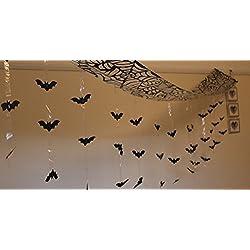 Murciélago Ataque Murciélagos Colgante de Techo para halloween 3 metros