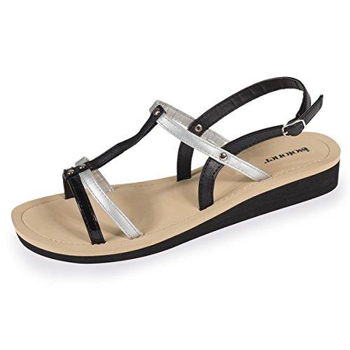 Sandales Femme Noir doré