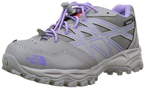 The North Face Hedgehog Hiker Waterproof, Chaussures de Randonnée Basses Mixte Enfant Multicolore (Quick Silver Grey/purple)