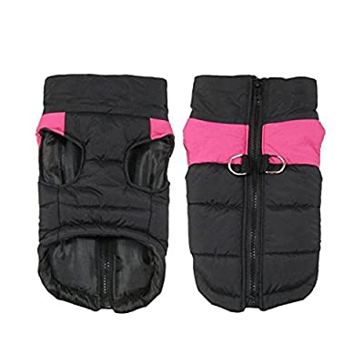 Shinmax Waterproof Dog Coat Jacket,Fleece Lined For Warmth, Chest Protector Puffer Pet Dog Puppy Clothes Vest For Autumn Winter