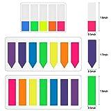 Lvcky Rotuladores de páginas de neón, Etiquetas de índice, dispensadores de Bandas, Etiquetas de Notas Adhesivas, 8 Juegos