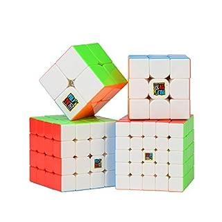Zauberwürfeln-Serie, Roxenda Zauberwürfeln-Serie von 2x2x2 3x3x3 4x4x4 5x5x5 Würfeln in Geschenkverpackung, IQ Spiele für Kinder