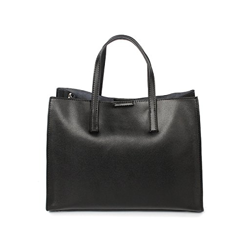 Sac à Main Fourre-tout En Cuir De Mode Casual Multicolore Option Black