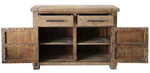 The Wood Times Kommode Schrank Vintage Look Massiv Industrial Kiefer FSC Recycled, BxHxT 120x85x45 cm - 2