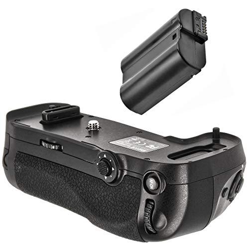 Meike Batteriegriff Akkugriff Vertical Grip kompatibel mit Nikon D500 Ersatz für Nikon MB-D17 inkl. EN-EL15 Nachbau Akku 1600mAh