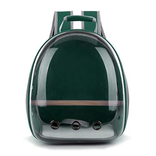 liaobeiotry Pet Pappagallo Carrier Bird Travel Bag Space Capsule Zaino Trasparente Traspirante 360° Sightsee Pet