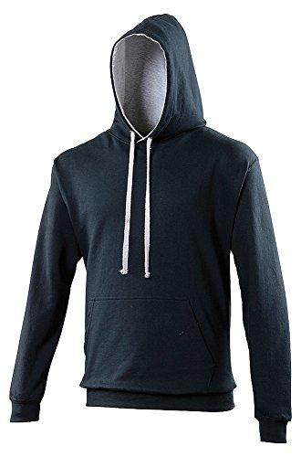 AWDis Hoods Varsity hoodie New French Navy/ Heather Grey –
