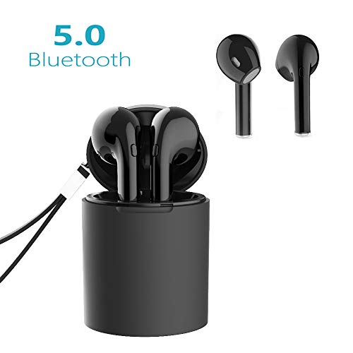 Bluetooth Kopfhörer V5.0 Kabellose Kopfhörer X10-TWS in Ear Headset Stereo-Minikopfhörer Sport mit Ladekästchen und Integriertem Mikrofon für iPhone Android Samsung Huawei