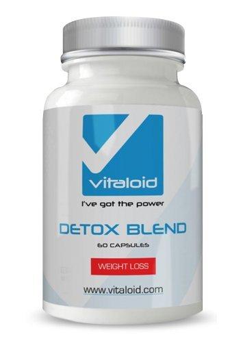 Detox-Blend-Vitaloid- 60 Kapseln - 100% natürlicher Detox - mit Aloe Vera,Psylliumfaser, Blaubeere, Inulin, Konjac, Vitamin C, Anis, Fenchel,Rhabarber, Lakritze, Weißdorn, Enzian und Acidophilus - Detox-Formelmit 100% NATÜRLICHEN Zutaten - Gewichtsverlust Pillen, zu reinigenColon & eliminieren Toxine