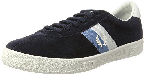 Fred Perry Herren Sports Authentic Tennis Shoe Suede Oxfords Blau (Navy)