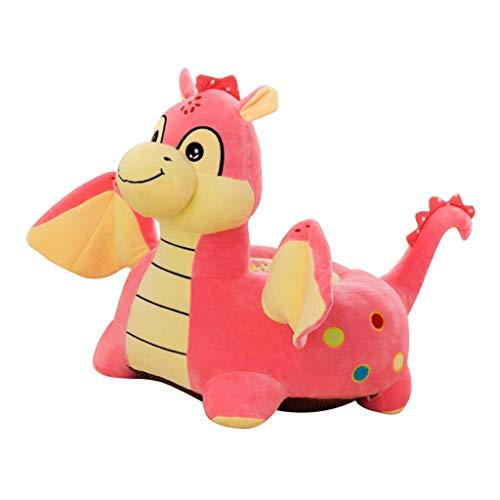LOVIVER Karikatur Tierkindersitz Sofa Abdeckungs Baby Stuhl Sitzsack - Fliegender Drache (Pink)
