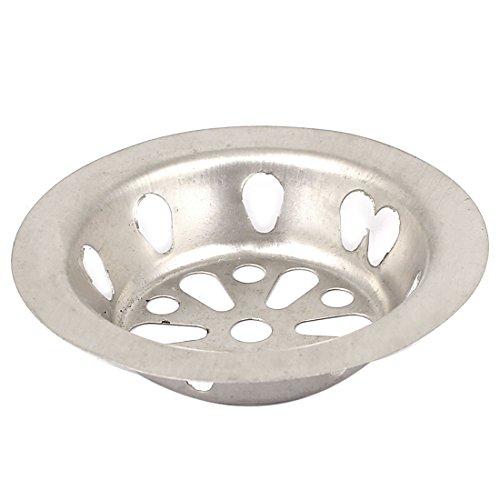 Preisvergleich Produktbild 56 x 33 mm Silber Haus Runde Form Metallgewebe Waschbecken Sieb