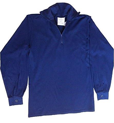 NEW Norgie Shirt / British Army Surplus / Blue / British Naval Issue / Submariner / Lightweight / Weight Zip Neck / Epaulettes / Detachable Velcro / 100 cm / 40-42