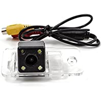 kunfine HD cámara de visión trasera de coche para Audi A6L/A4/A3/Q7/S52009/10/11Cámara inversa Backup cámara de visión trasera cámara de visión nocturna LED luz impermeable