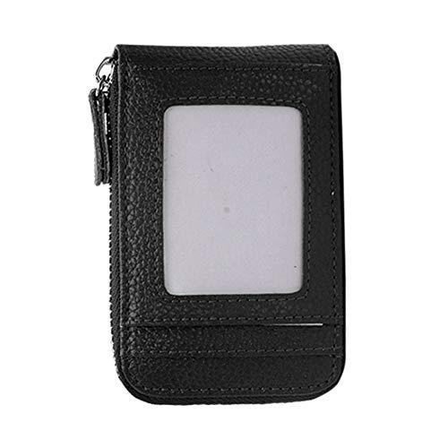 f727c9af45e4 fengwen66 Fashion Woman Man Handbag Zipper PU Leather Card Cash Coin Wallet  Purse Holder(Black