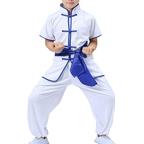 Daytwork Chinesische Sportarten Kleidung Performance Kampfkunst - Kampfsport Bekleidung Kind Sets Mädchen Jungen Traditionell Wushu Shaolin Tai Chi Leistungskostüme Kung Fu Uniform Training