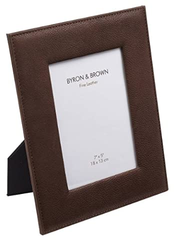 Chocolate Vintage Leather Photo Frame 6 x 4 by Byron