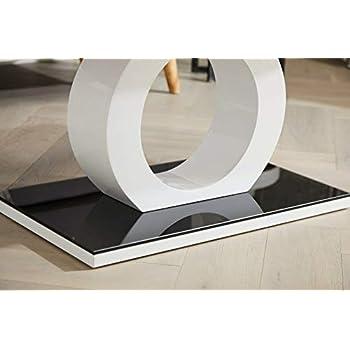 Furniturebox UK Giovani Designer Halo Black White High Gloss Glass Modern Coffee Table