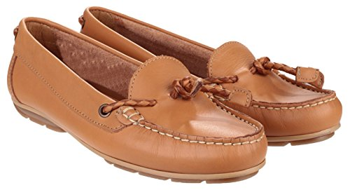 Riva Slip en cuir basse Riva Gorda dames chaussures Tan