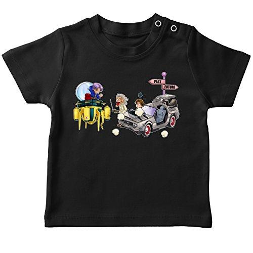 (Okiwoki T-Shirts DBZ et Retour Vers le Futur parodique Trunks, Marty MacFly et Doc Brown : Retour Vers le Futur Du Futur. (Parodie DBZ et Retour Vers le Futur))
