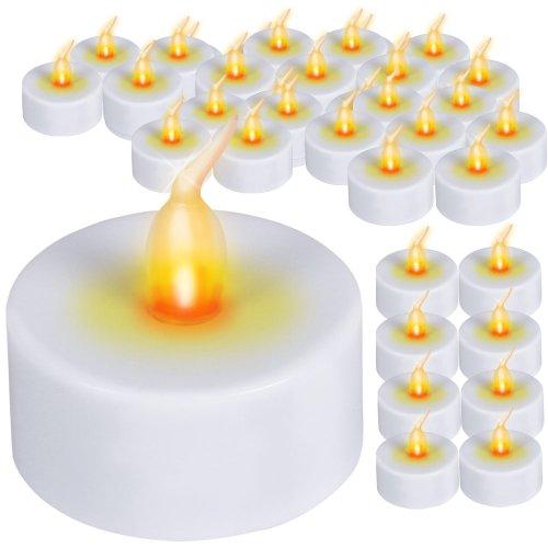 Kerzen | Setwahl: 12er, 16er, 32er, 64er, im weiß, Ø/H: ca. 3,8/4,4 cm, inklusive Batterie | Flammenlose ()