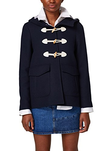edc by ESPRIT Damen Jacke 028CC1G024, Blau (Navy 400), X-Small