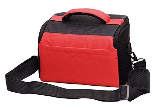 Z&HXborsa a tracolla Fotografia reflex borse fotocamera zaino impermeabile multifunzionale DV , red , 27*14*17cm Red