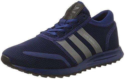 Adidas los angeles, scarpe da ginnastica basse uomo, blu (mysblu/silvmt/cblack), 46 eu