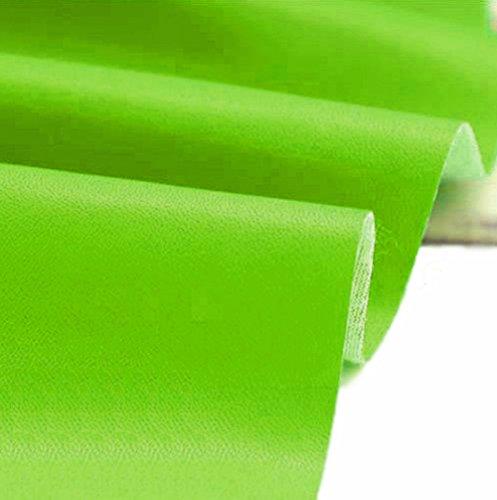 A-Express Kunstleder Lederimitat Lederstoff Polsterstoff Möbelstoff Meterware Bezugsstoff - Lindgrün - 500cm x 140cm