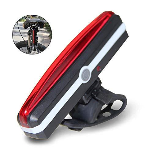 Tenlso Luce Bici Posteriore LED USB Ricaricabile Fanale per Bicicletta Impermeabile ad Alta Luminosità 6 modalità di Illuminazione Ciclismo Sicurezza Luce Rossa