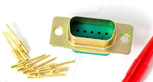 Souriau 8630-09p highend non-magnetic Serielle Schnittstelle Seriell Port Stecker RS232 DB-9 D-Sub DB9 9-Pin 10-19 connector crimp