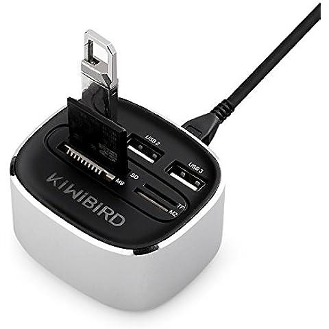 KiWiBiRD HUB USB ad Alta Velocità Tutto-in-Uno / Lettore di