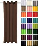Rollmayer modern Vorhang (Braun 28) Schal mit Ösen 140x250 cm lichtundurchlässig Gardine, Ösenvorhang Ösenschal für Kinderzimmer, Jugendzimmer, Schlafzimmer, Küche in 40 Farben!