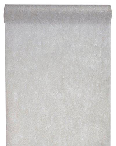 Vlies-Stoff 30cm (25m lang) Tischläufer Deko-Vlies Party Hochzeits-Dekoration (grau)