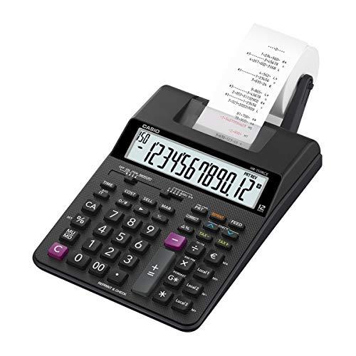 Casio HR-150RCE Druckender Rechner, schwarz - Große Anzeige Taschenrechner 8-stellige