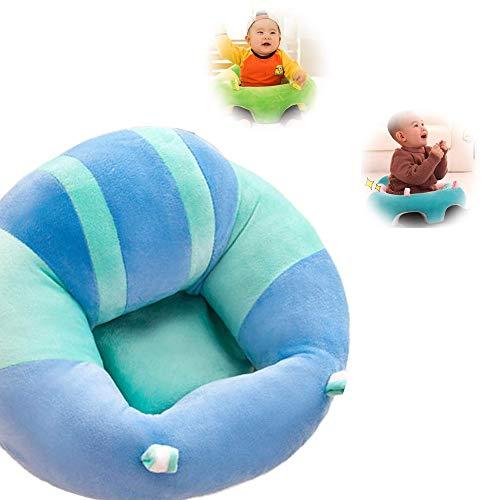 JUMOWA Almohada de Asiento para bebé, sofá de Felpa para bebé para Aprender a Sentarse, Azul, 40...