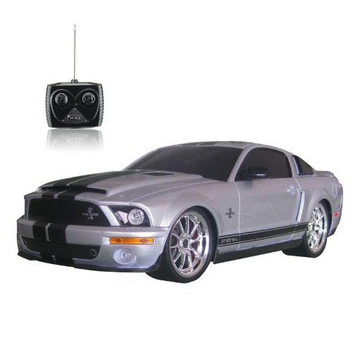 118-licensed-shelby-mustang-gt500-super-snake-electric-rtr-remote-control-rc-car-silver-by-midea-tec