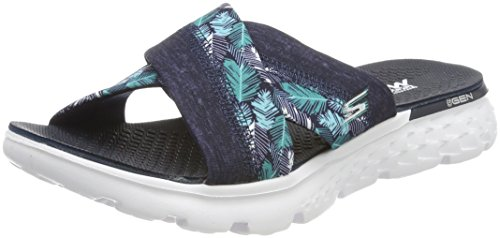 Skechers Damen On-The-Go 400-Tropical Sandalen, Blau (NVY), 38 EU (Skechers Schuhe Frauen Breite)