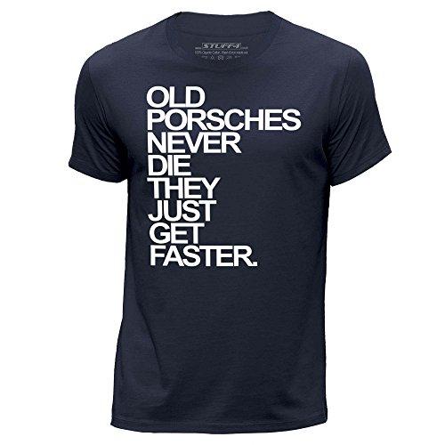 stuff4-uomo-x-grande-xl-blu-navy-girocollo-t-shirt-old-porsches-porsche-never-die