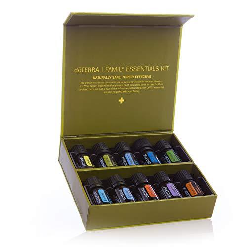 doTERRA Family Essential Oil Kit (Aromatherapy Set, Ätherisches Öl-Set)  - TOP 10 Oils & Blends