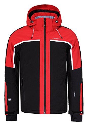 Herren Skijacke / Softshelljacke Icepeak - Nevio (schwarz / rot ) Outdoor Funktionsjacke, Gr. 52