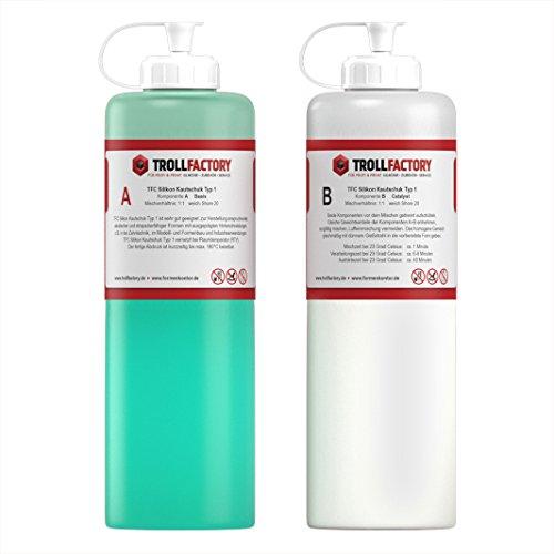 TFC Silikon Kautschuk Typ 1 I Dubliersilikon weich I 1 kg (2 x 500 g)