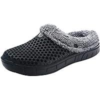 Yvelands Pareja Hombre Invierno Zapatillas de casa Mantenga Calientes Zapatos Antideslizantes en el Interior del Dormitorio